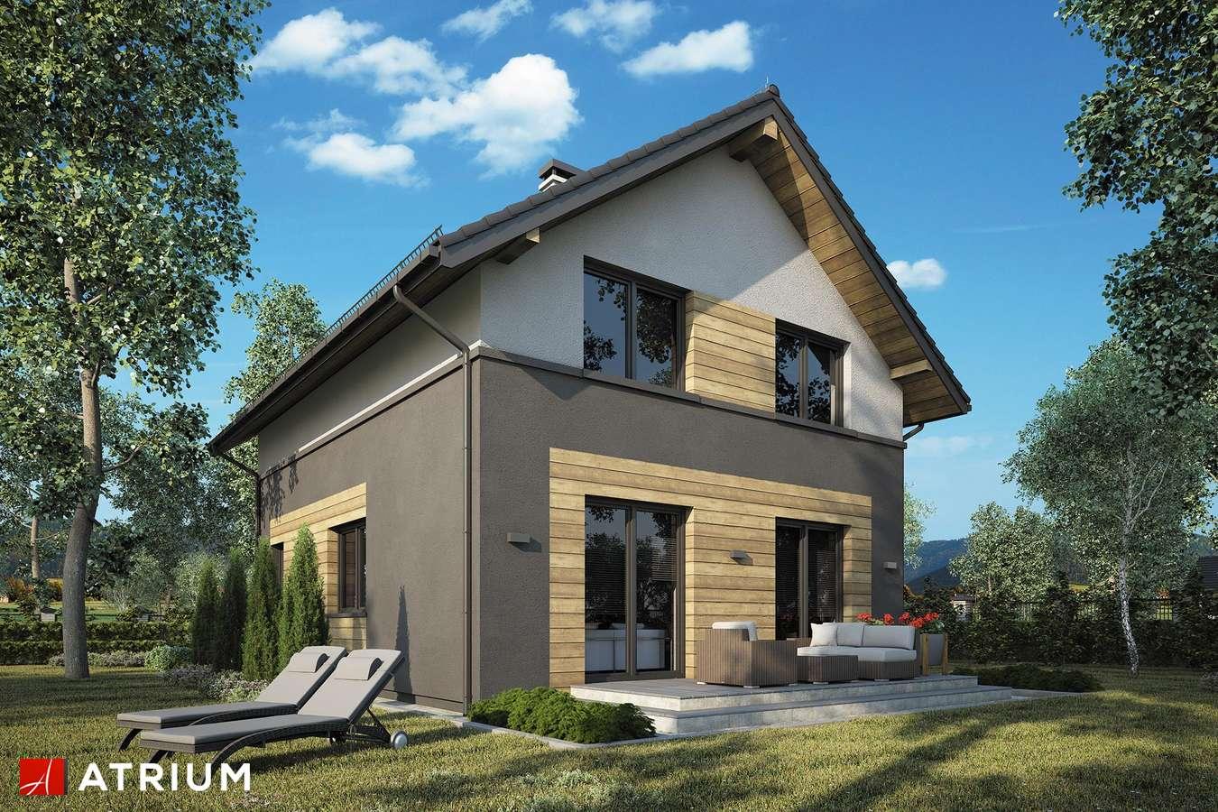 Projekty domów - Projekt domu z poddaszem SILESIA II - wizualizacja 2