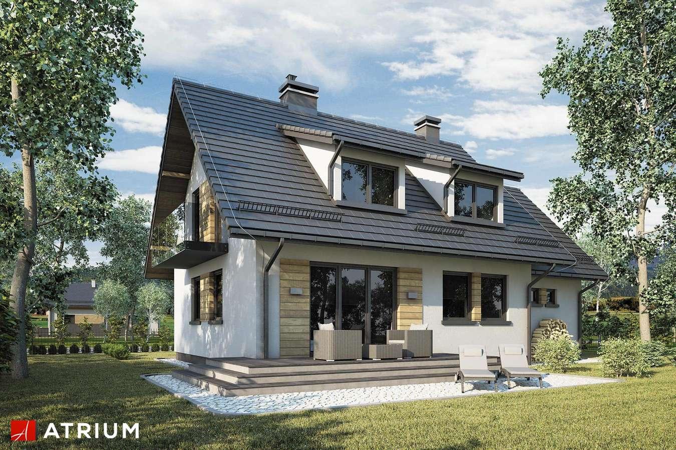 Projekty domów - Projekt domu z poddaszem ADELA II - wizualizacja 2