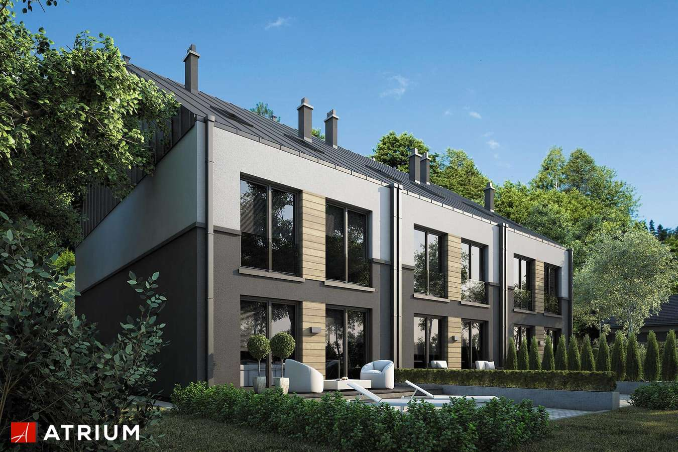 Projekty domów - Projekt domu z poddaszem TORINO SLIM MULTI - wizualizacja 2