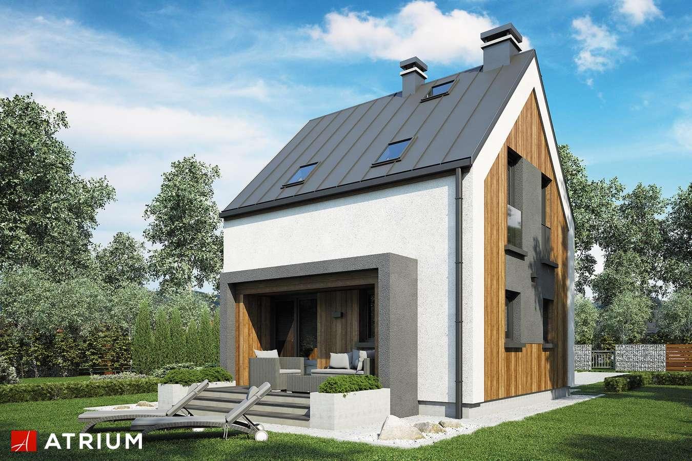 Projekty domów - Projekt domu z poddaszem PARVA - wizualizacja 2