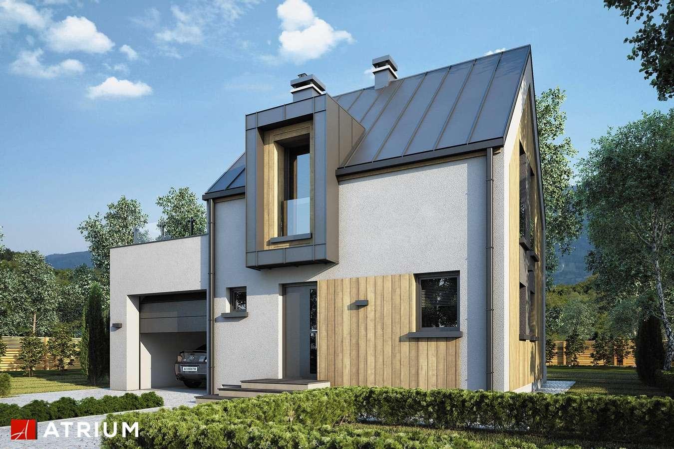 Projekty domów - Projekt domu z poddaszem PARVA II - wizualizacja 1