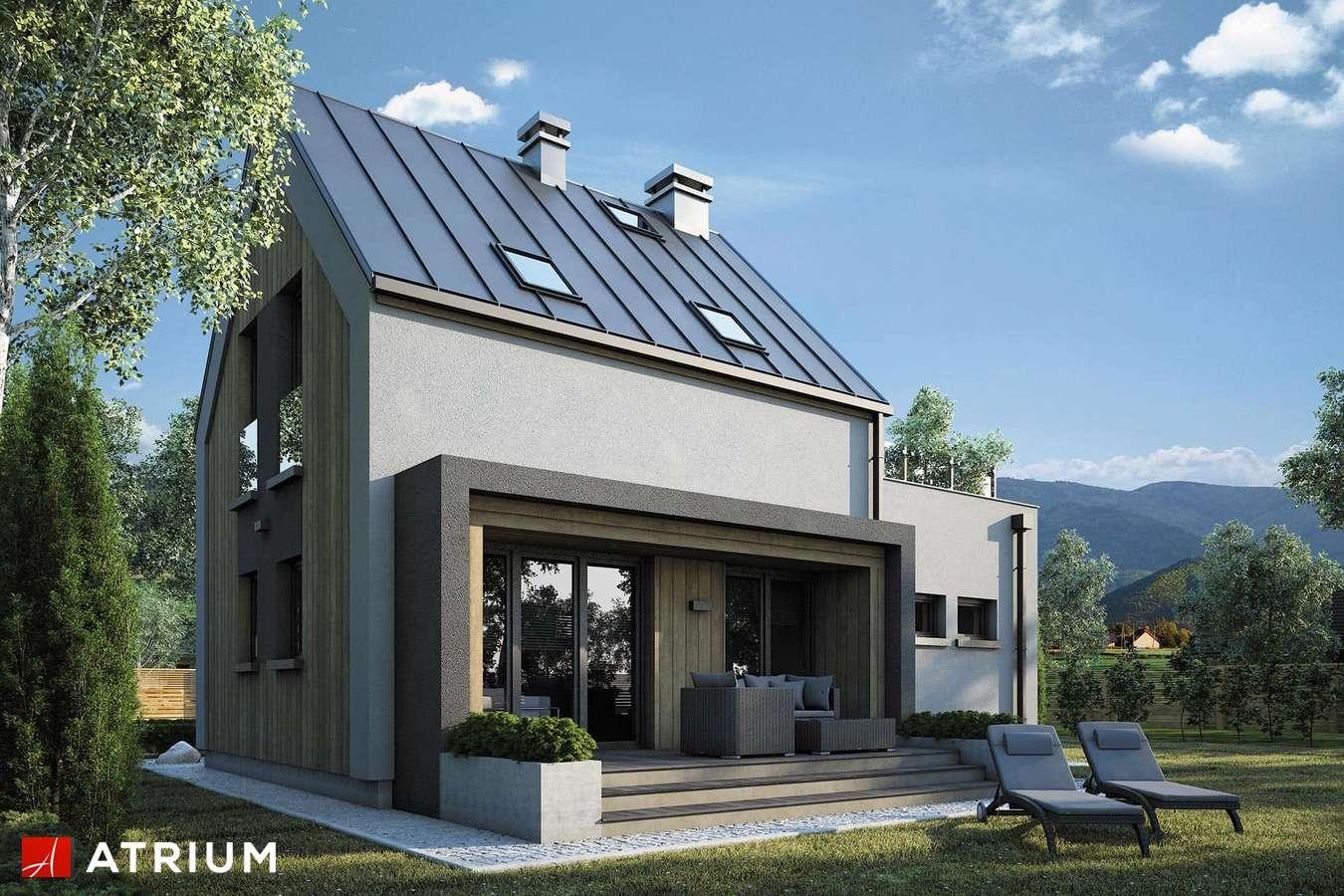 Projekty domów - Projekt domu z poddaszem PARVA II - wizualizacja 2