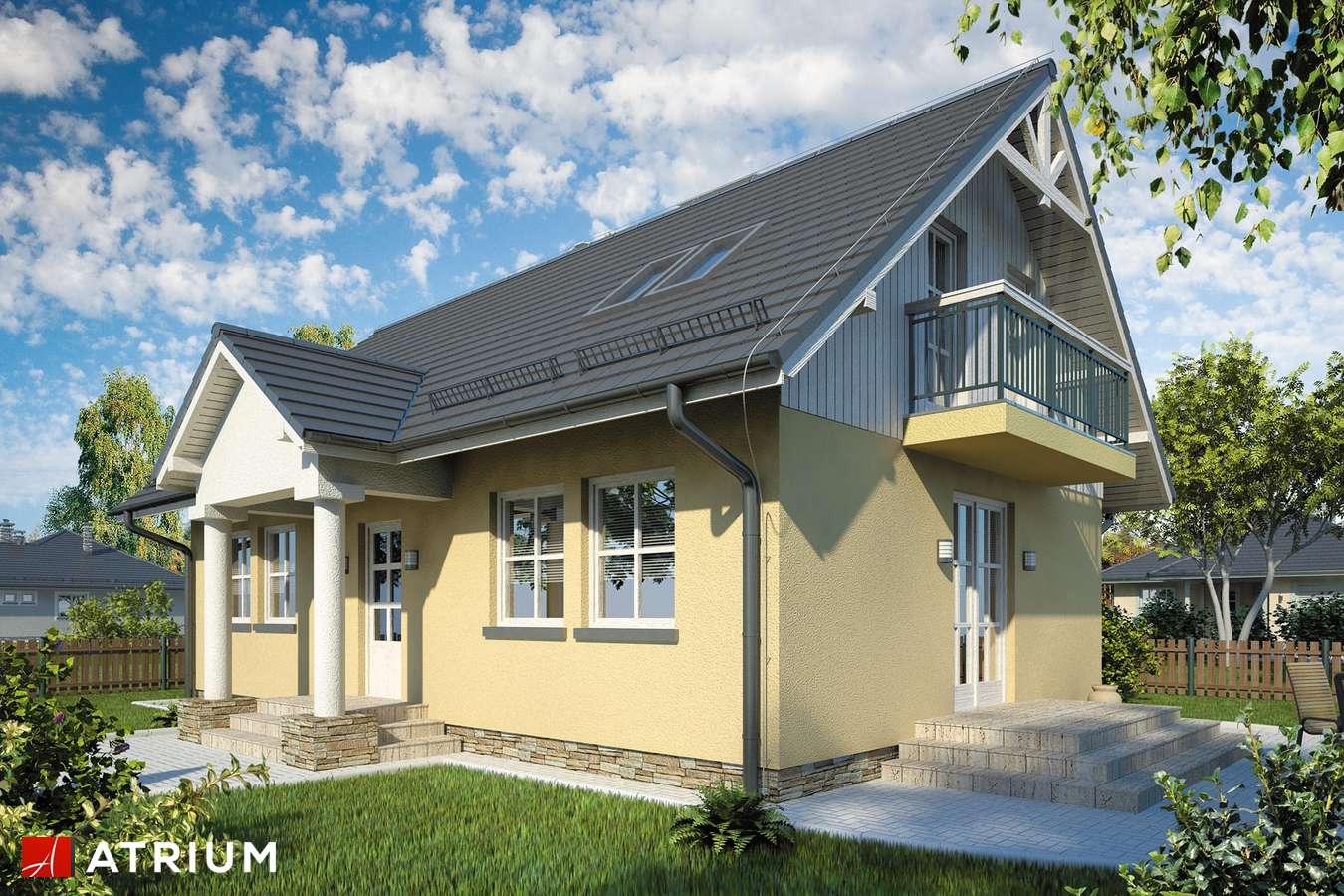 Projekty domów - Projekt domu z poddaszem JUTRZENKA - wizualizacja 1