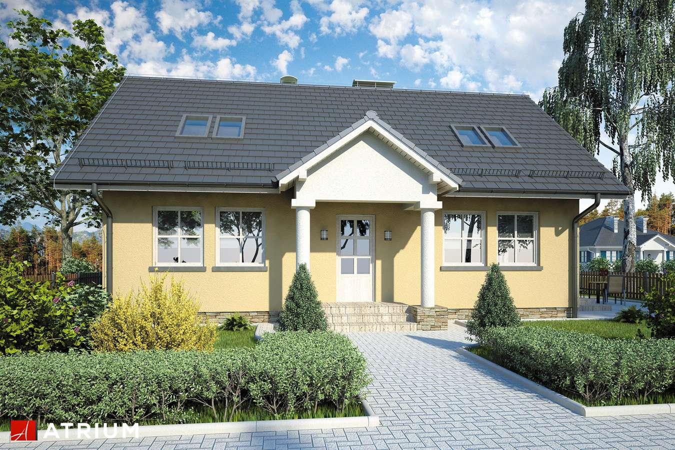 Projekty domów - Projekt domu z poddaszem JUTRZENKA - wizualizacja 2