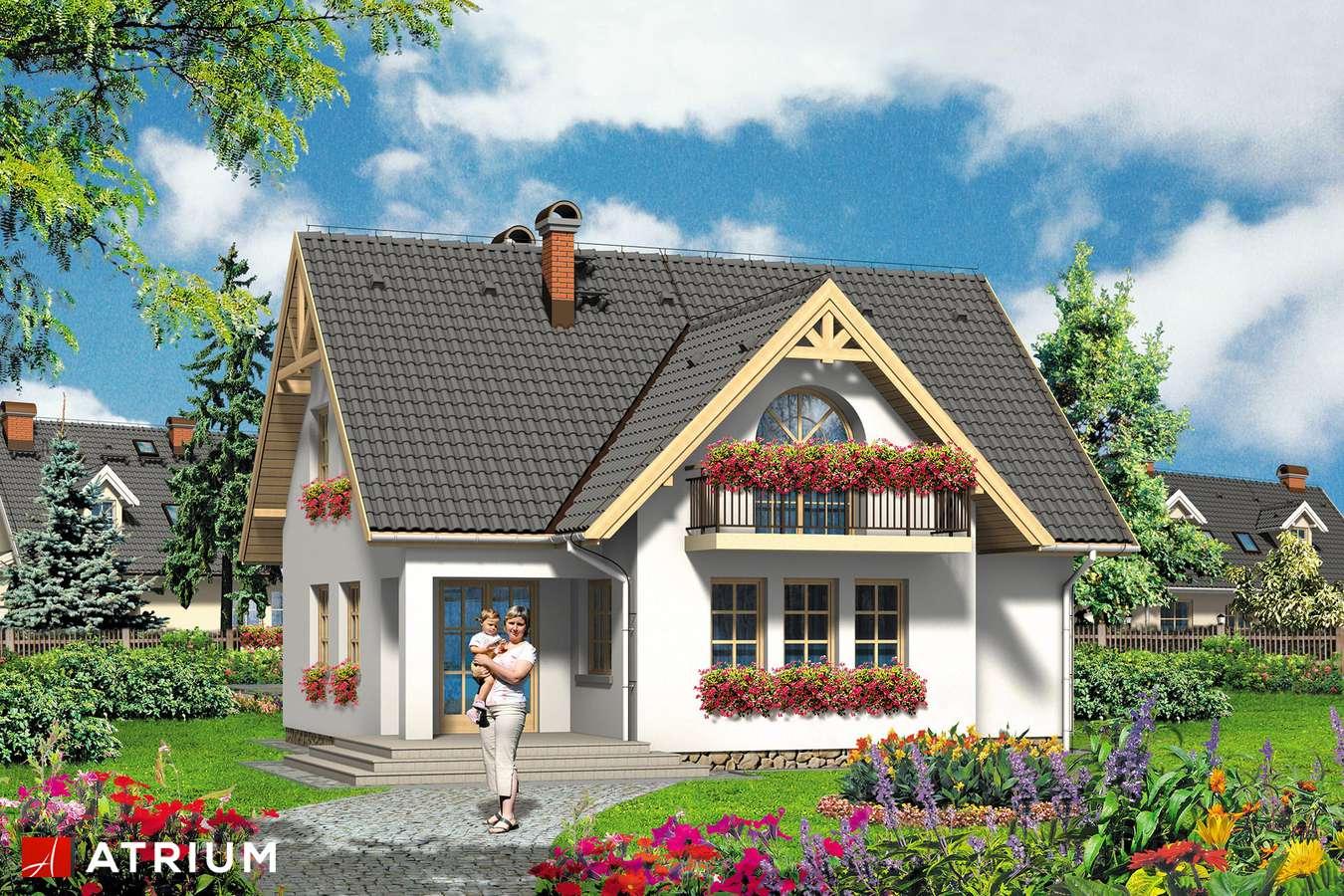Projekty domów - Projekt domu z poddaszem RODZYNEK - wizualizacja 1