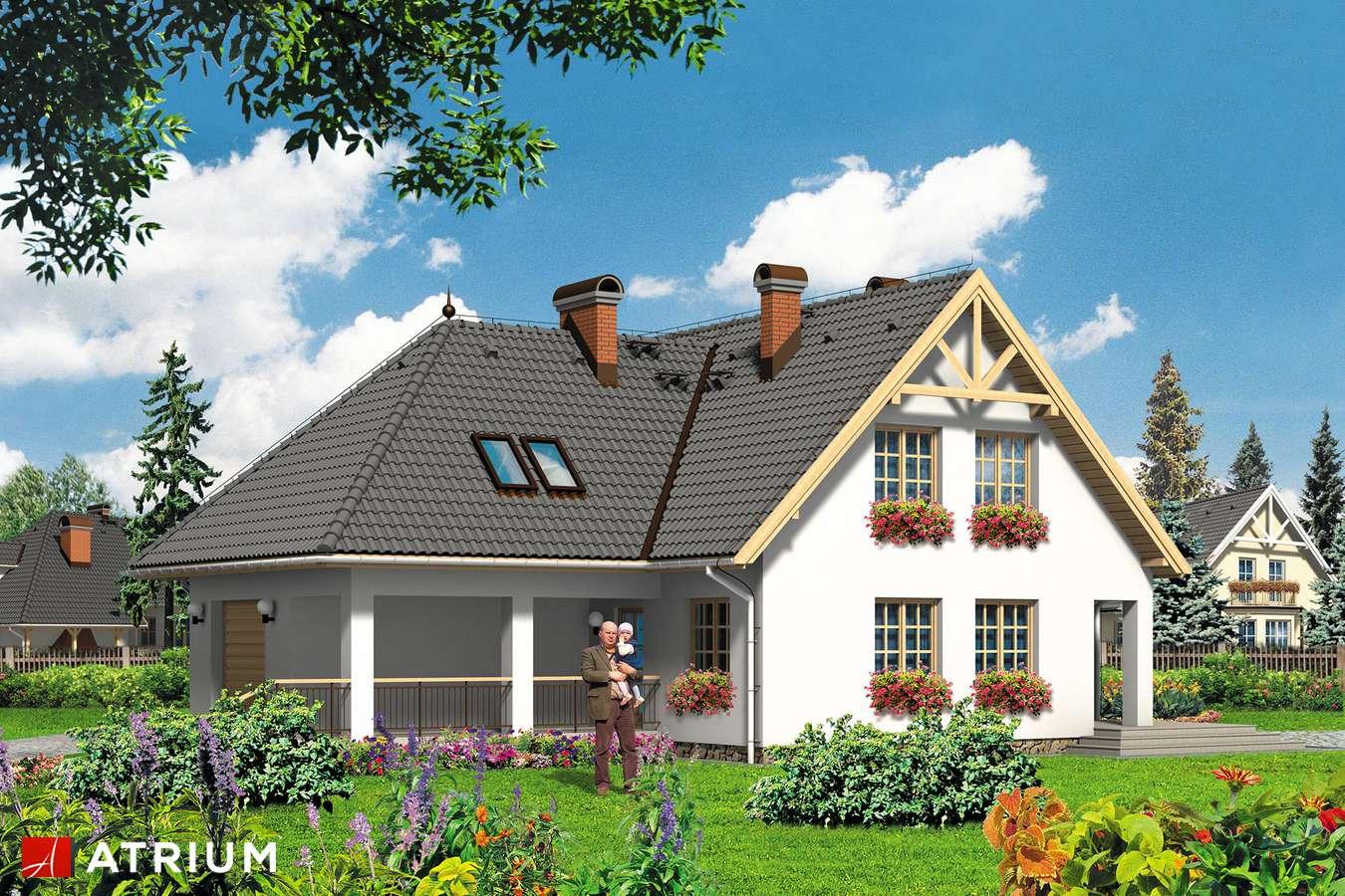 Projekty domów - Projekt domu z poddaszem RODZYNEK - wizualizacja 2