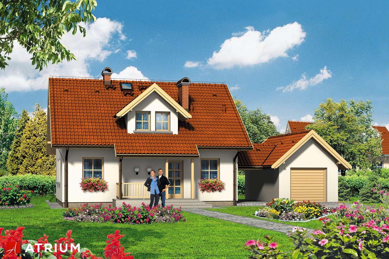 Projekty domów - Projekt domu z poddaszem ZłOTE RUNO - wizualizacja 1