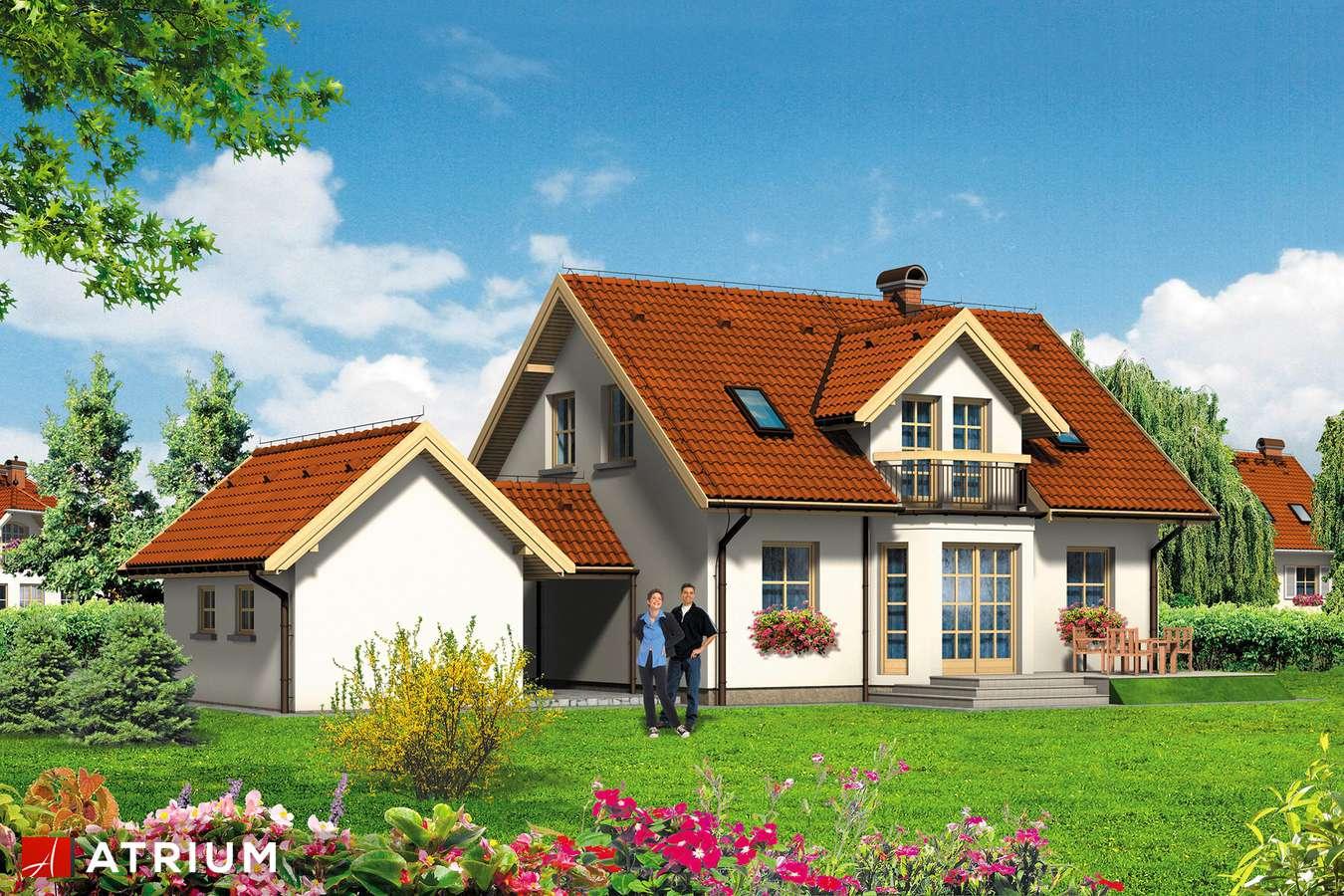 Projekty domów - Projekt domu z poddaszem ZłOTE RUNO - wizualizacja 2