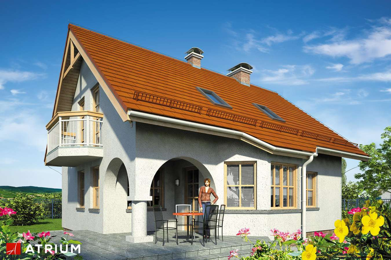 Projekty domów - Projekt domu z poddaszem MAKS - wizualizacja 2