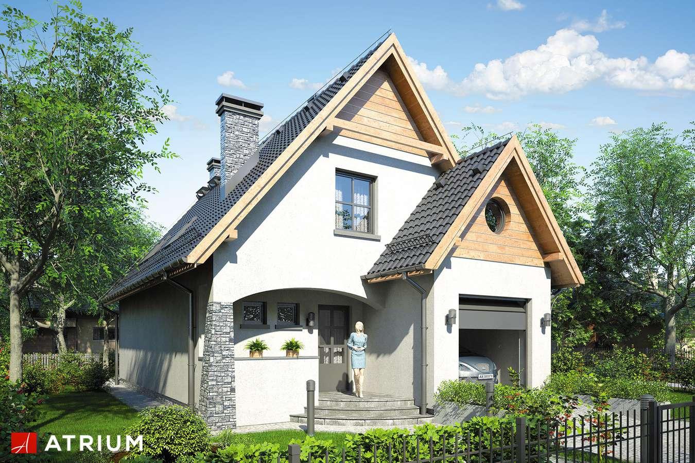 Projekty domów - Projekt domu z poddaszem JAWOR - wizualizacja 1