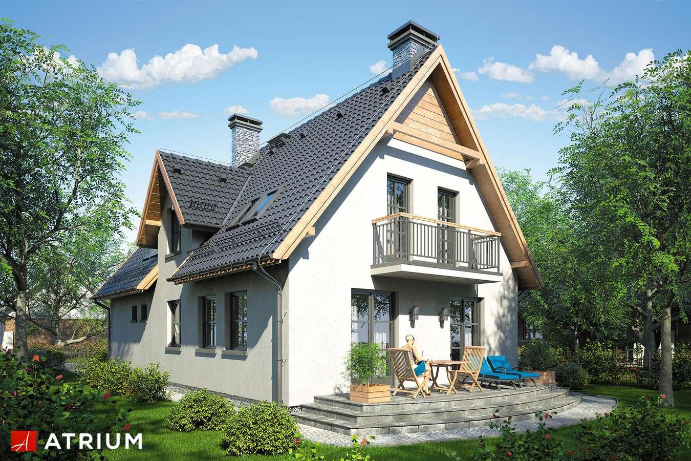 Projekty domów - Projekt domu z poddaszem JAWOR - wizualizacja 2