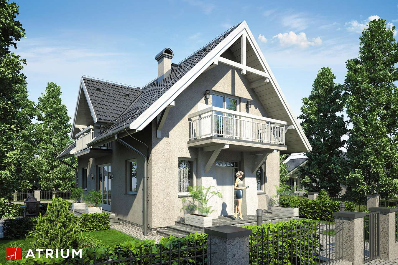 Projekty domów - Projekt domu z poddaszem LUTNIA III - wizualizacja 1