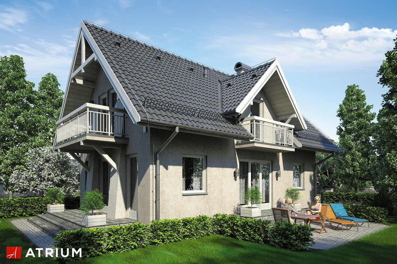 Projekty domów - Projekt domu z poddaszem LUTNIA III - wizualizacja 2