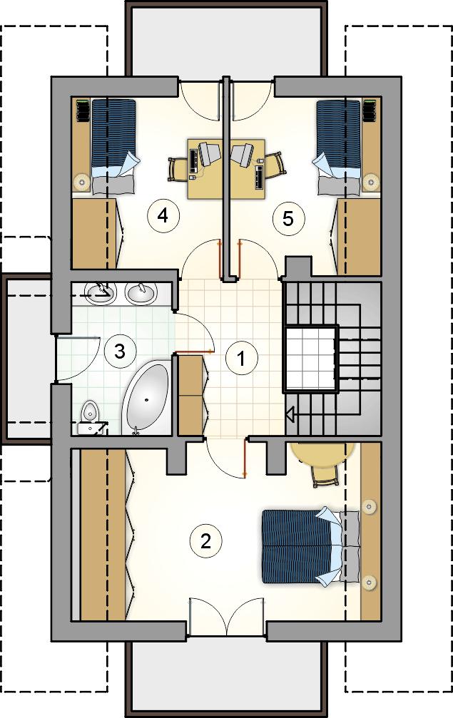 Rzut poddasza - projekt Lutnia III