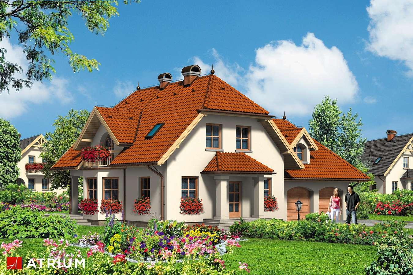 Projekty domów - Projekt domu z poddaszem GUTEK - wizualizacja 1