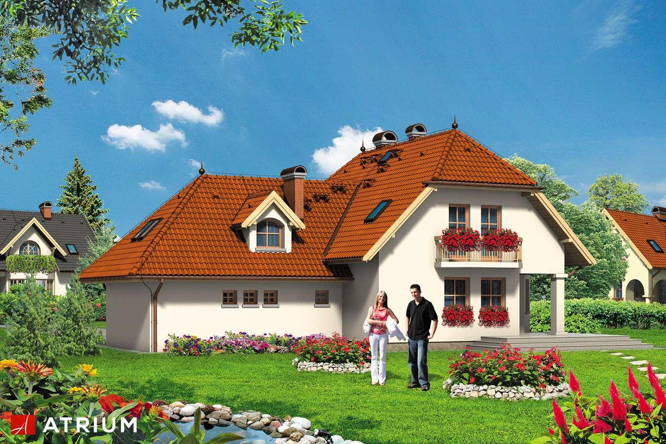 Projekty domów - Projekt domu z poddaszem GUTEK - wizualizacja 2