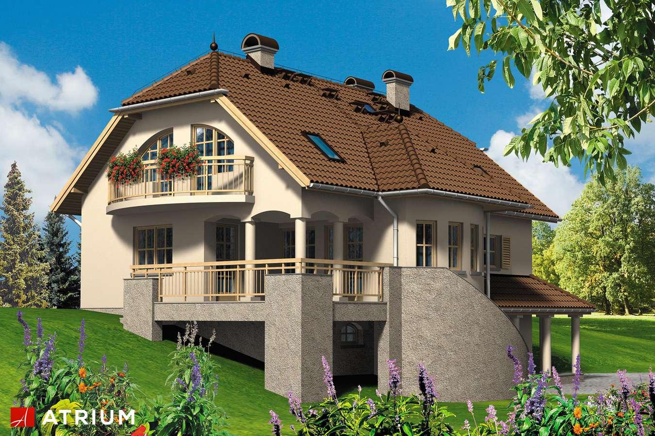 Projekt domu z poddaszem MALWA - wizualizacja 1