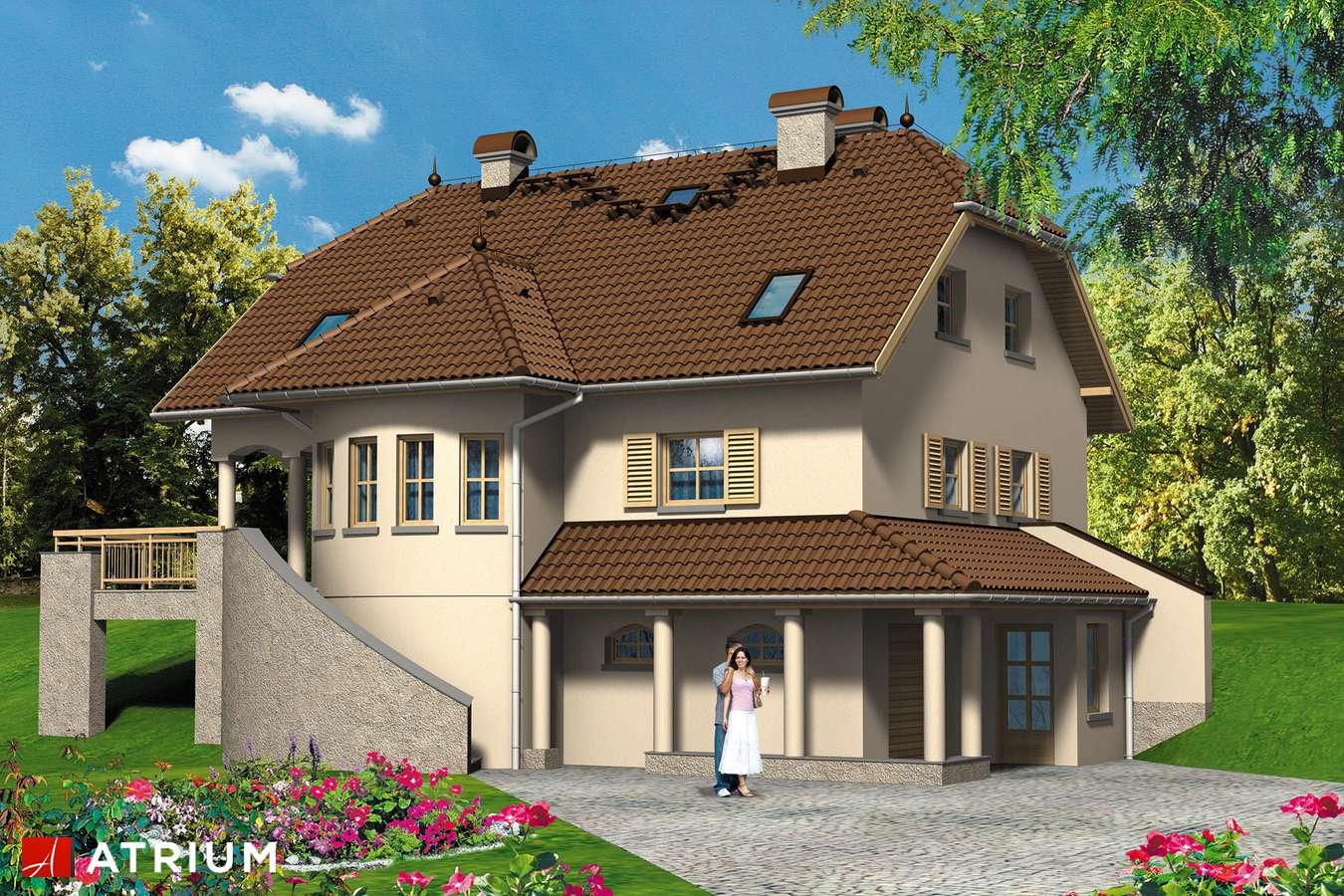 Projekt domu z poddaszem MALWA - wizualizacja 2