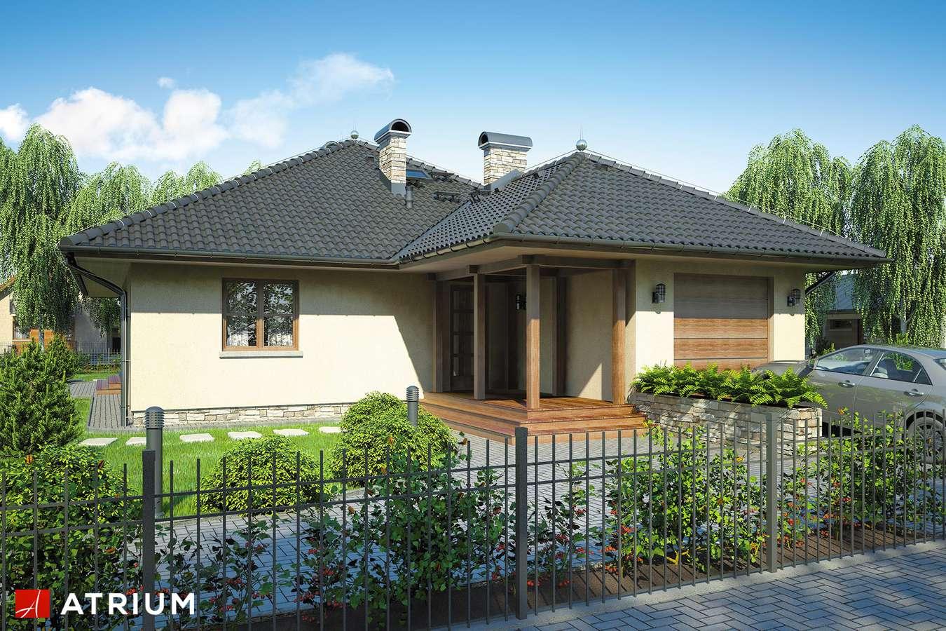 Projekty domów - Projekt domu parterowego OSTOJA - wizualizacja 1 - wersja lustrzana