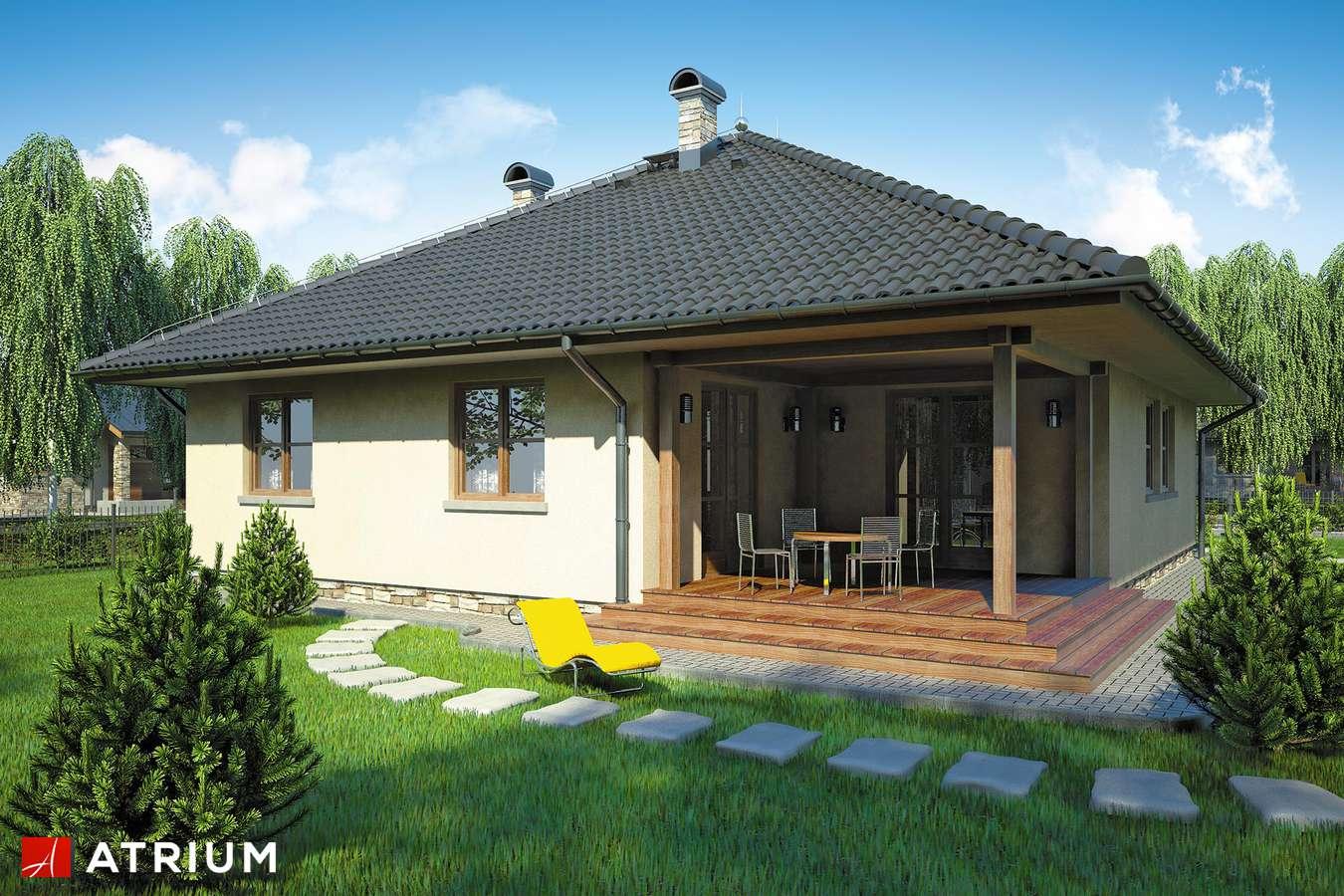 Projekty domów - Projekt domu parterowego OSTOJA - wizualizacja 2 - wersja lustrzana