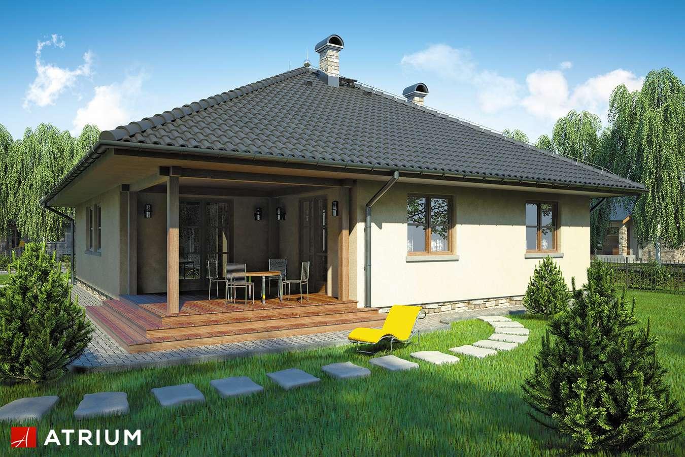 Projekty domów - Projekt domu parterowego OSTOJA - wizualizacja 2