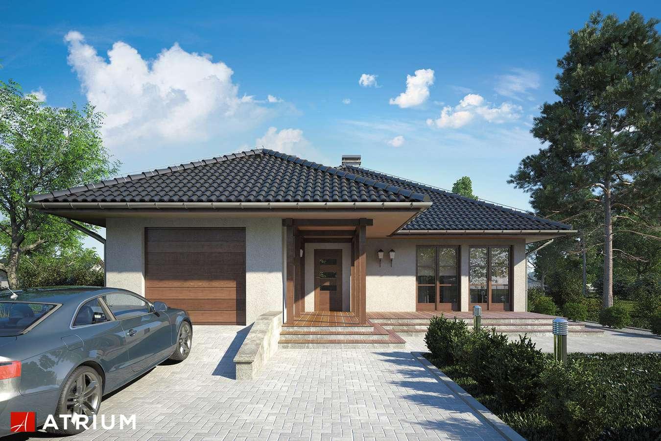 Projekty domów - Projekt domu parterowego FLORYDA - wizualizacja 1