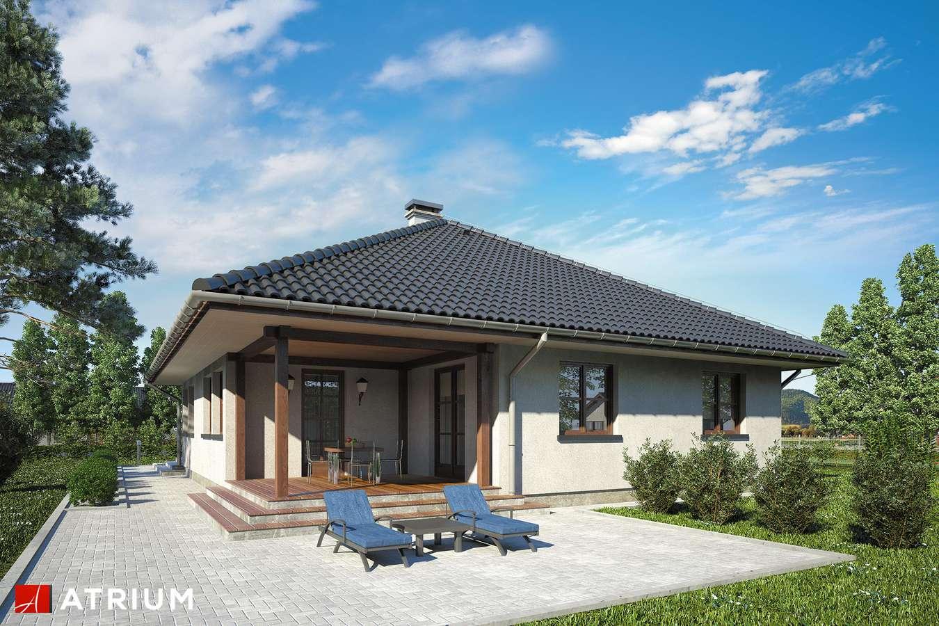 Projekty domów - Projekt domu parterowego FLORYDA - wizualizacja 2