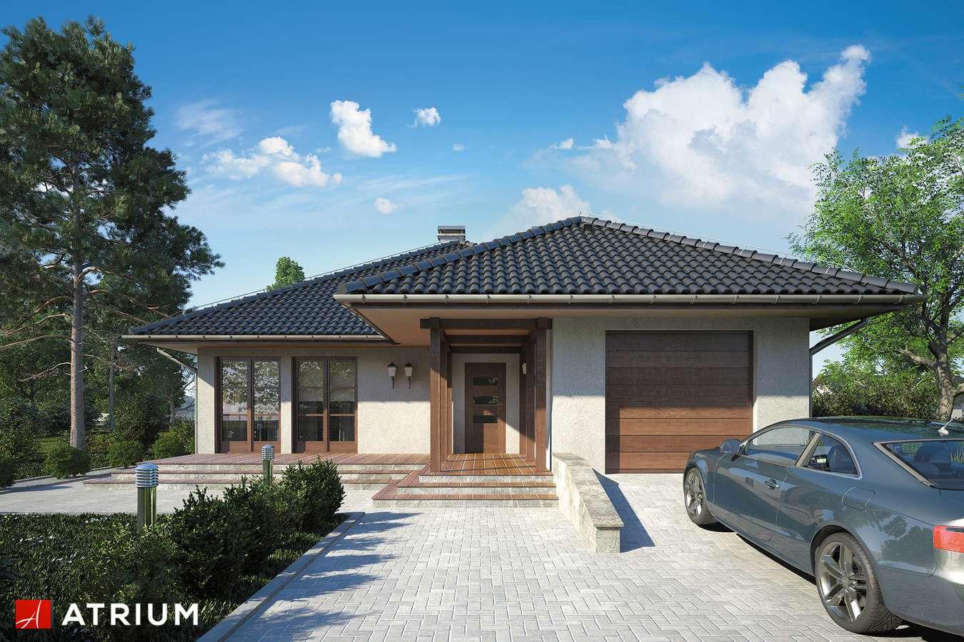 Projekty domów - Projekt domu parterowego FLORYDA - wizualizacja 1 - wersja lustrzana