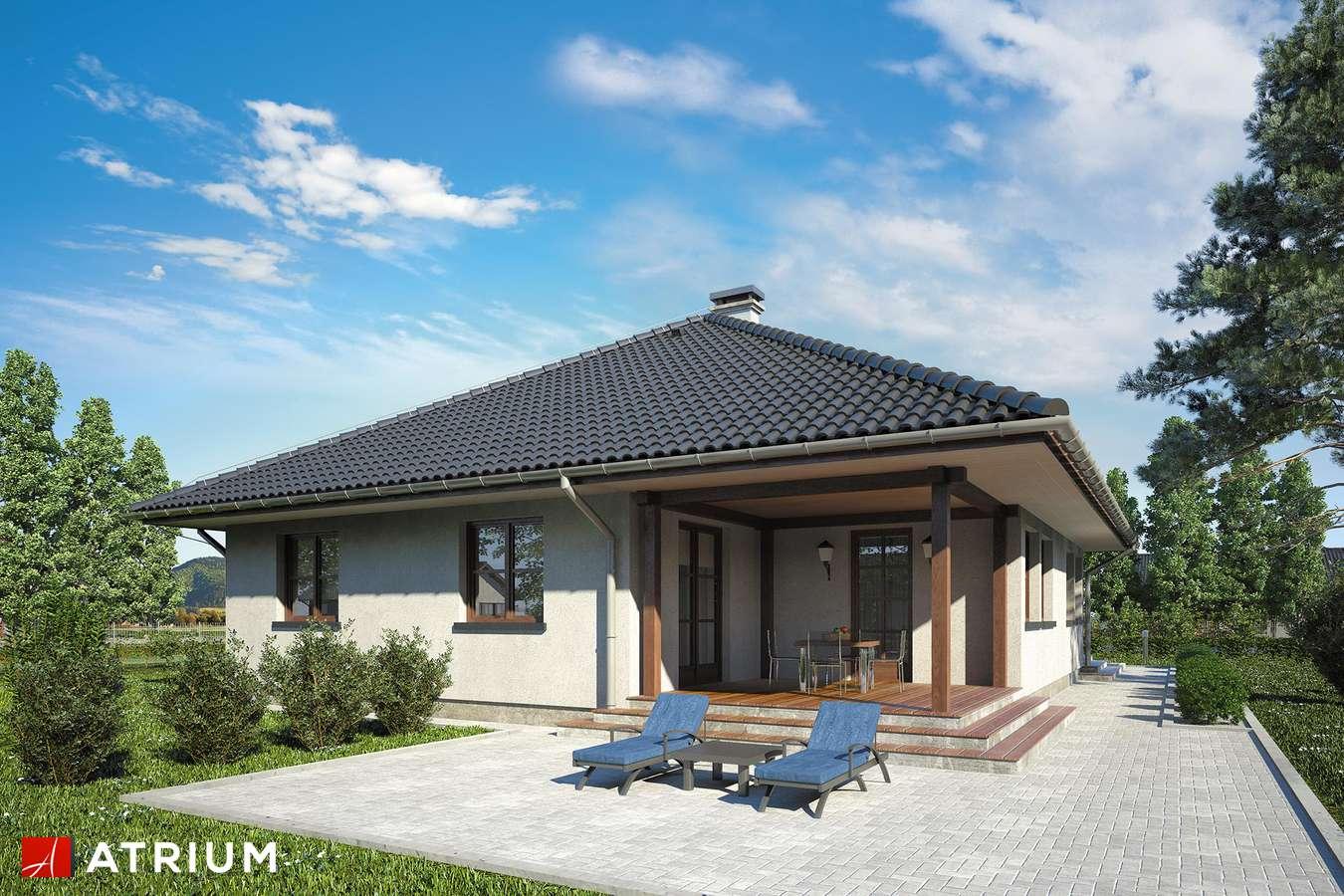 Projekty domów - Projekt domu parterowego FLORYDA - wizualizacja 2 - wersja lustrzana