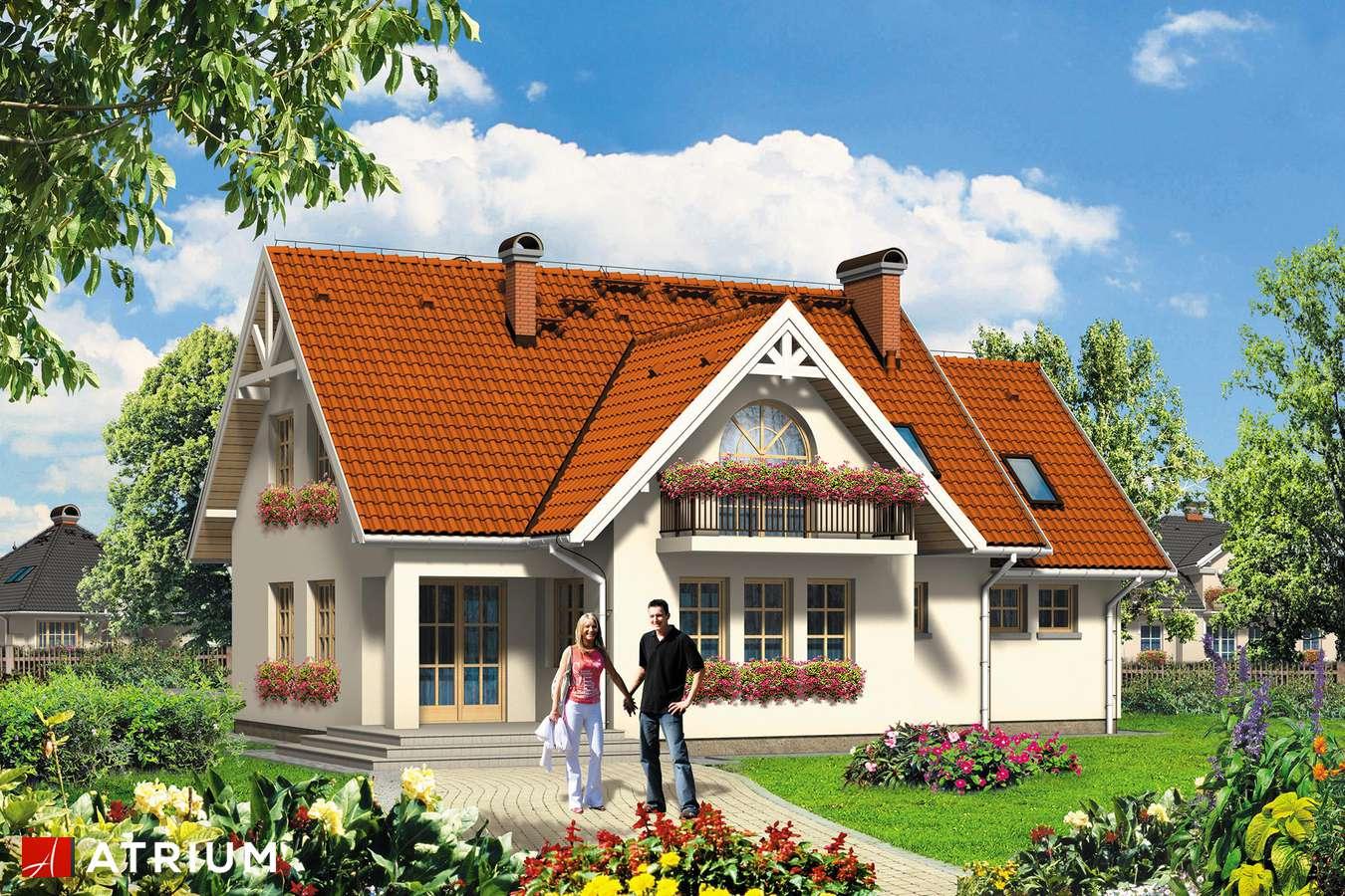 Projekty domów - Projekt domu z poddaszem JAGODA - wizualizacja 1