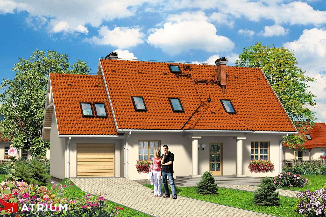 Projekty domów - Projekt domu z poddaszem JAGODA - wizualizacja 2