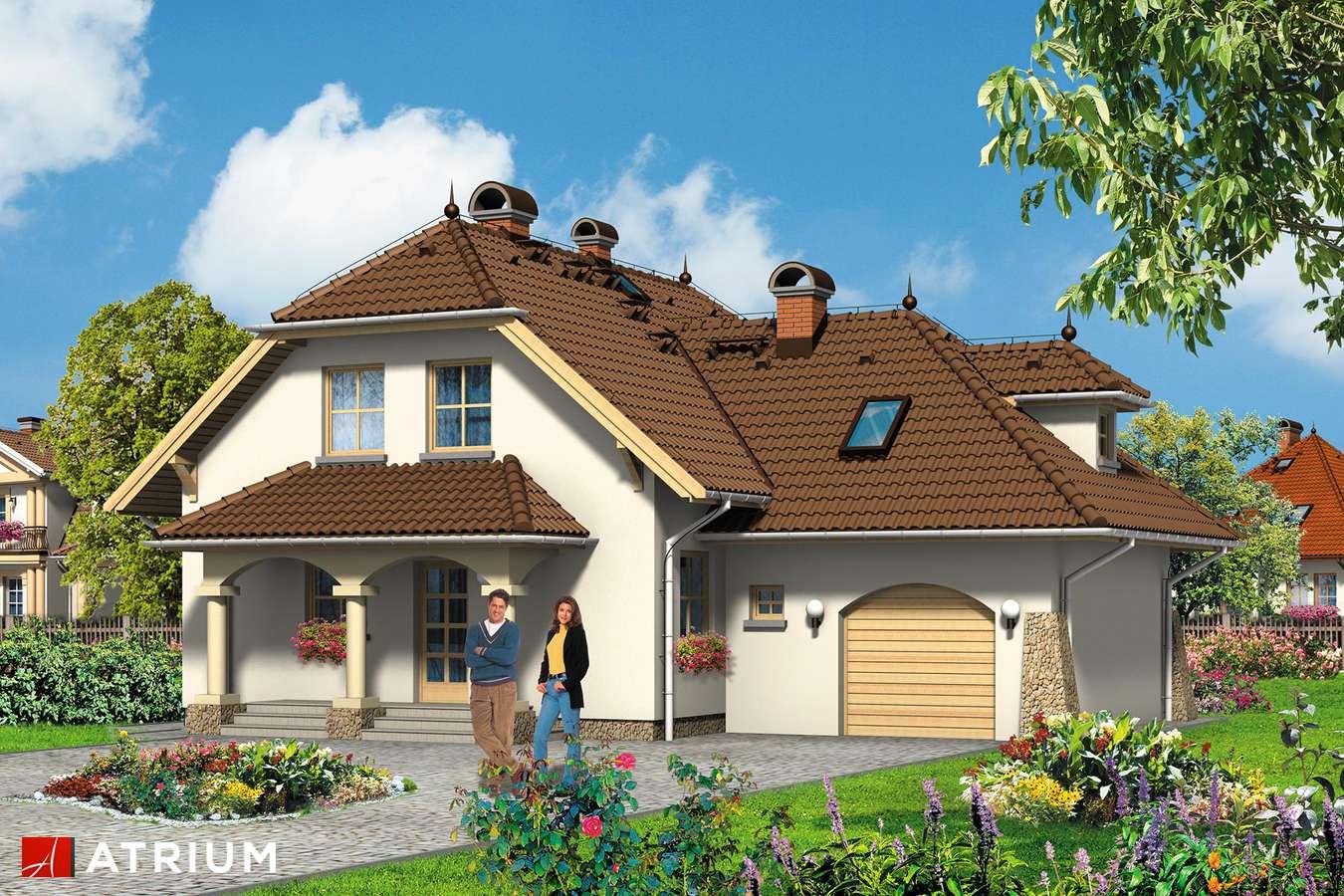 Projekty domów - Projekt domu z poddaszem JESION - wizualizacja 1