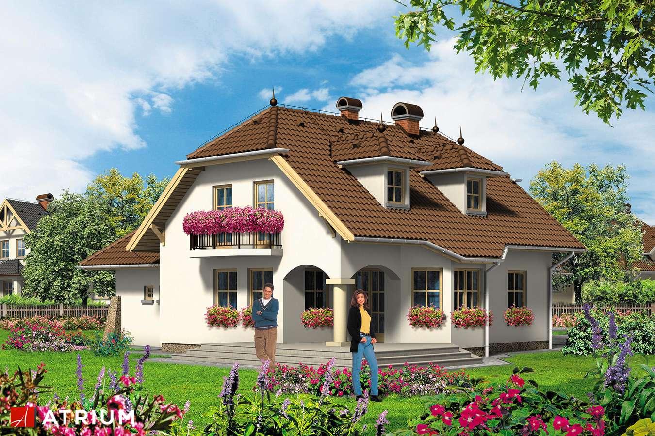 Projekty domów - Projekt domu z poddaszem JESION - wizualizacja 2