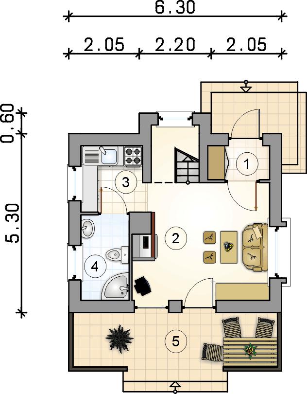 Modish Skrzat - rekreacyjny mały domek parterowy z poddaszem użytkowym ZQ76