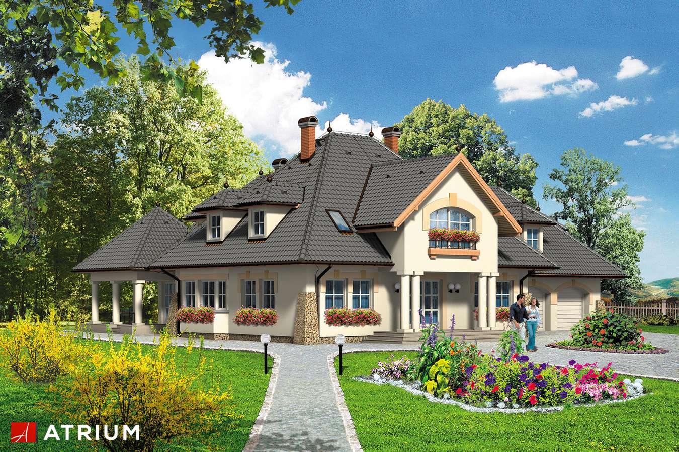 Projekty domów - Projekt domu z poddaszem KOMANDOR - wizualizacja 1