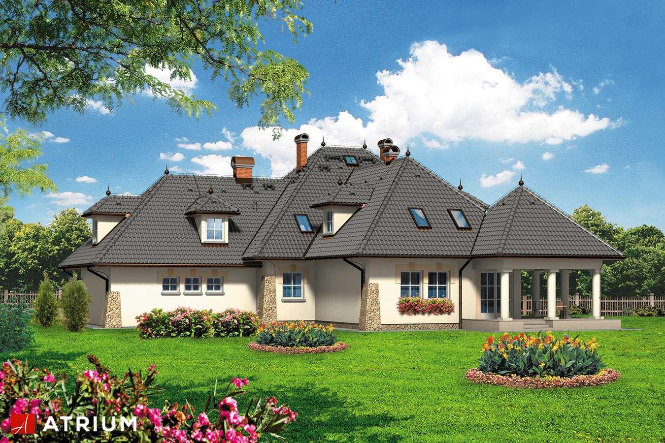 Projekty domów - Projekt domu z poddaszem KOMANDOR - wizualizacja 2