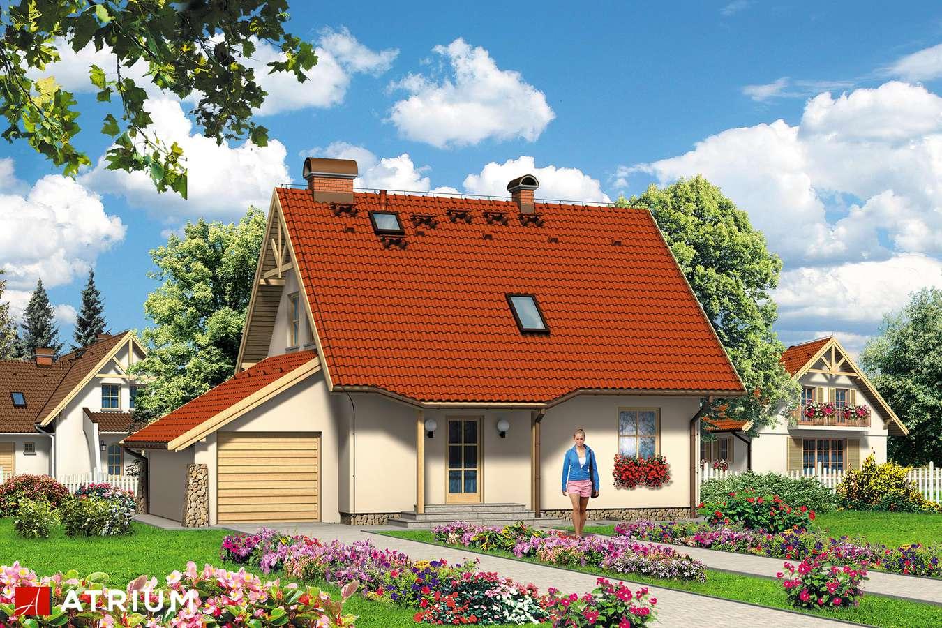 Projekty domów - Projekt domu z poddaszem AGATA - wizualizacja 1
