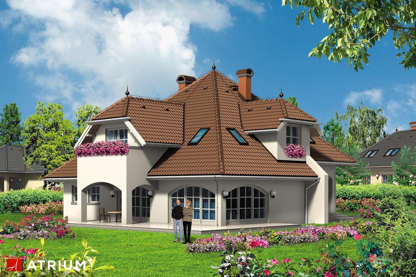 Projekty domów - Projekt domu z poddaszem WILLA ARTURA - wizualizacja 1 - wersja lustrzana
