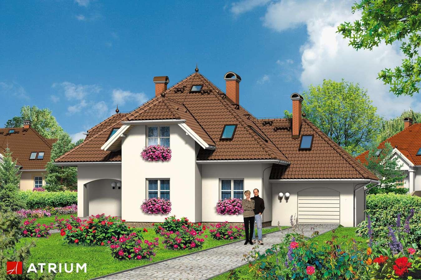 Projekty domów - Projekt domu z poddaszem WILLA ARTURA - wizualizacja 2 - wersja lustrzana