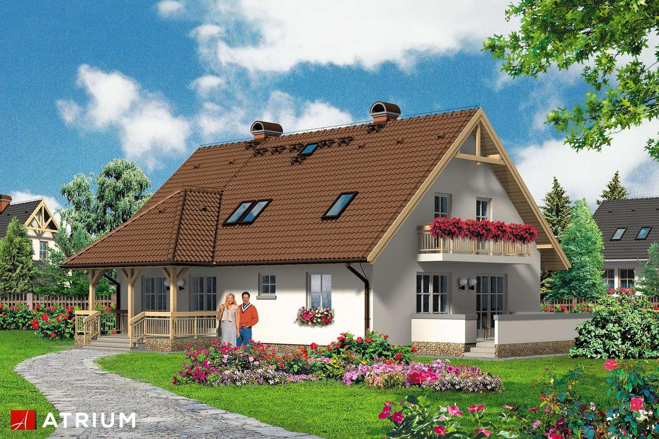 Projekty domów - Projekt domu z poddaszem BOGUSIA - wizualizacja 1