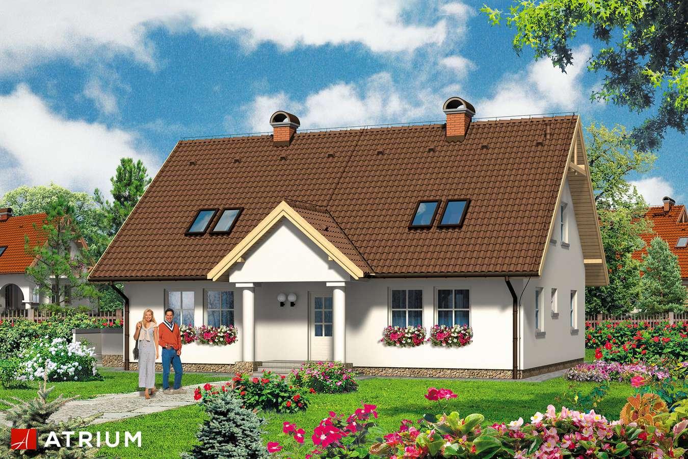 Projekty domów - Projekt domu z poddaszem BOGUSIA - wizualizacja 2