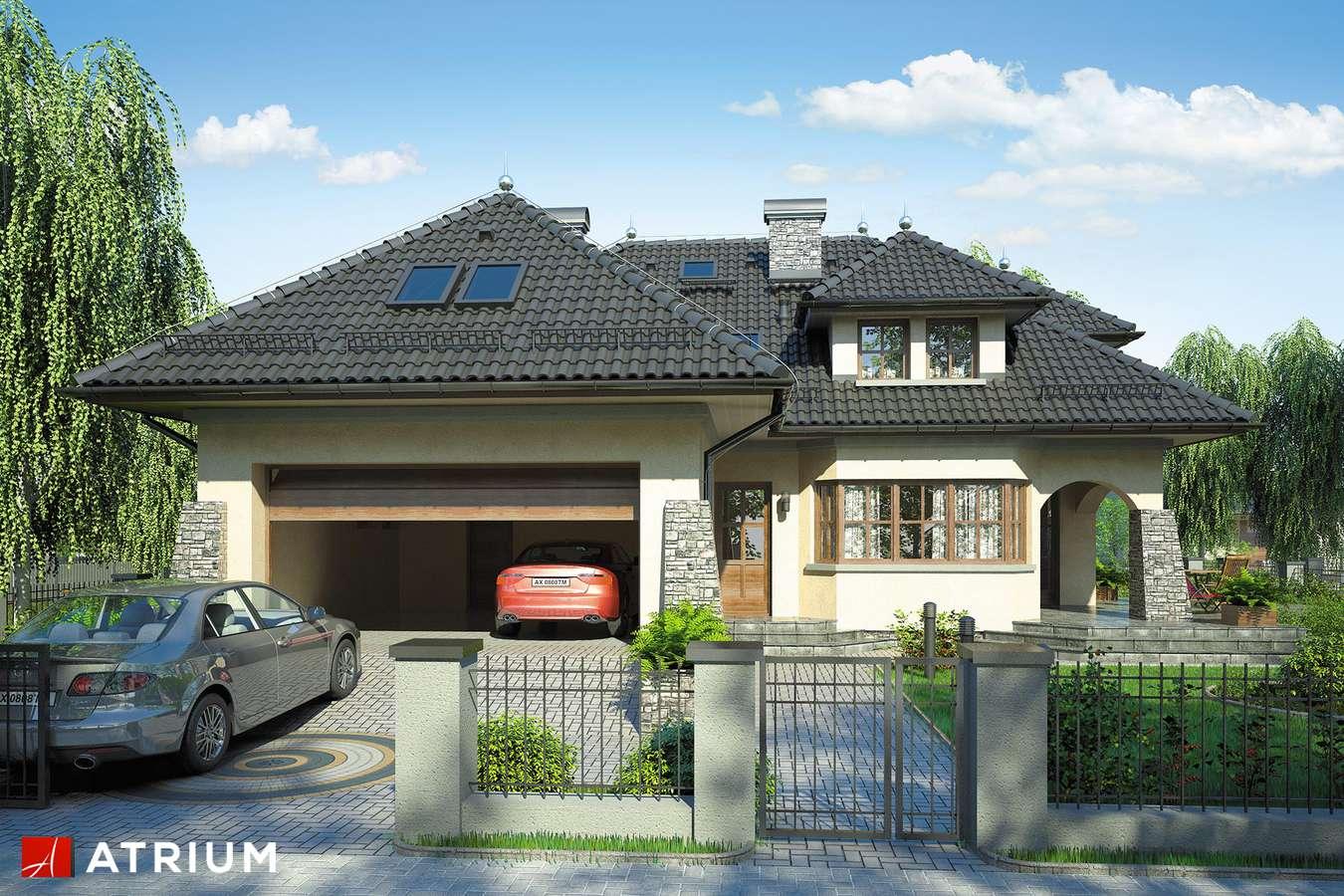 Projekty domów - Projekt domu z poddaszem WILLA BARONA - wizualizacja 1