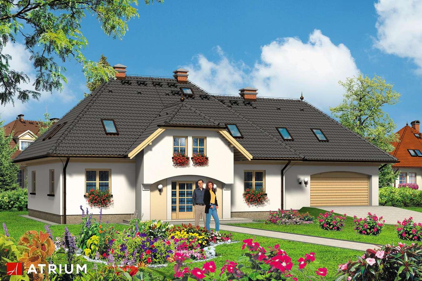 Projekty domów - Projekt domu z poddaszem FAWORYT - wizualizacja 1