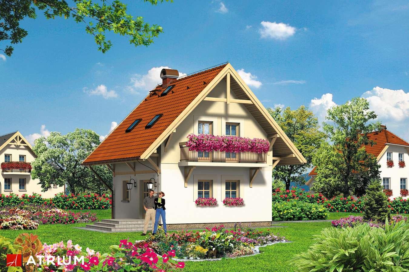 Projekty domów - Projekt domu z poddaszem BłAWATEK - wizualizacja 1