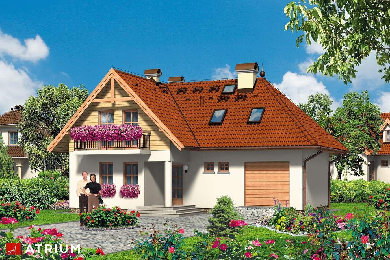 Projekty domów - Projekt domu z poddaszem ARONIA - wizualizacja 1
