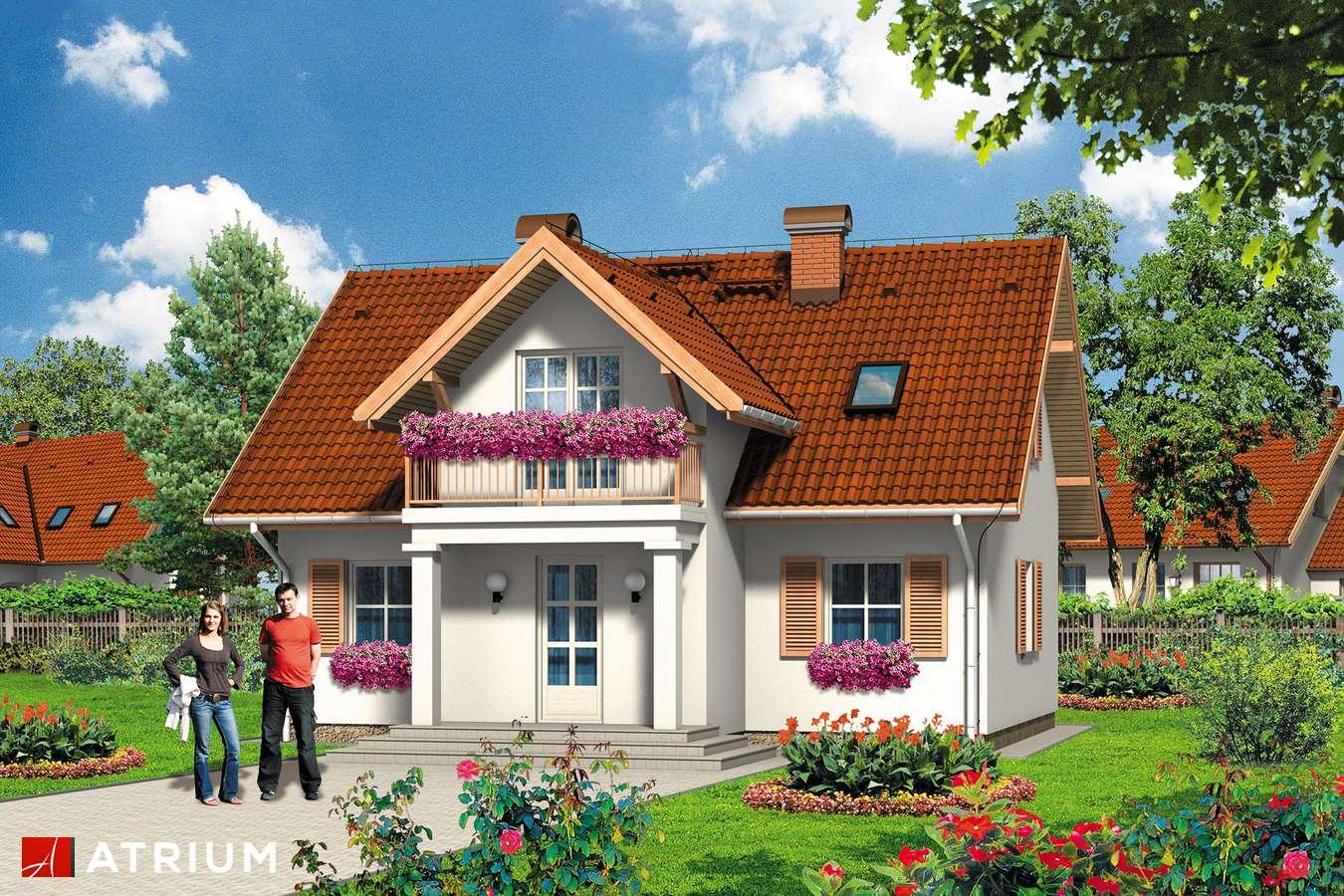 Projekty domów - Projekt domu z poddaszem KWIAT PAPROCI - wizualizacja 1