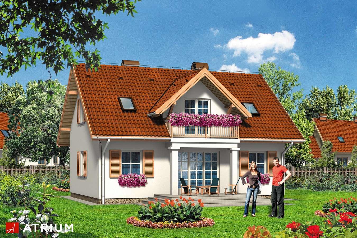 Projekty domów - Projekt domu z poddaszem KWIAT PAPROCI - wizualizacja 2