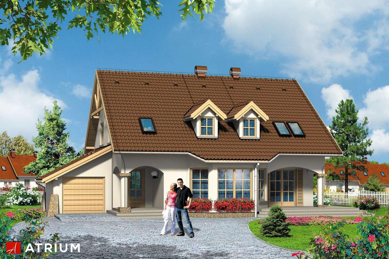 Projekty domów - Projekt domu z poddaszem GINA - wizualizacja 1