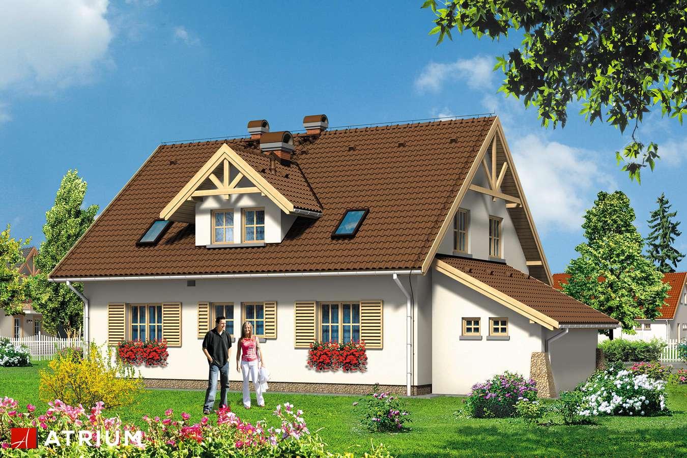 Projekty domów - Projekt domu z poddaszem GINA - wizualizacja 2