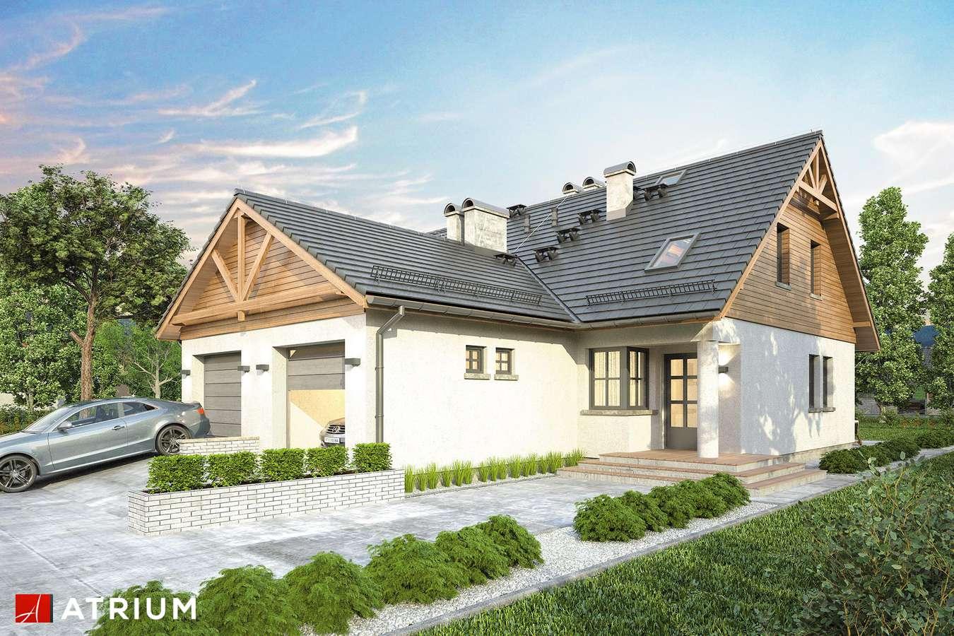 Projekty domów - Projekt domu z poddaszem DUET - wizualizacja 1